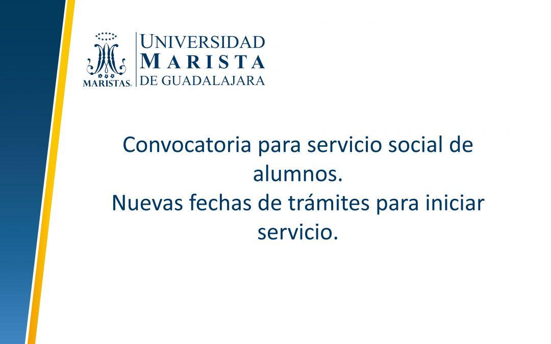 Convocatoria para servicio social alumnos.