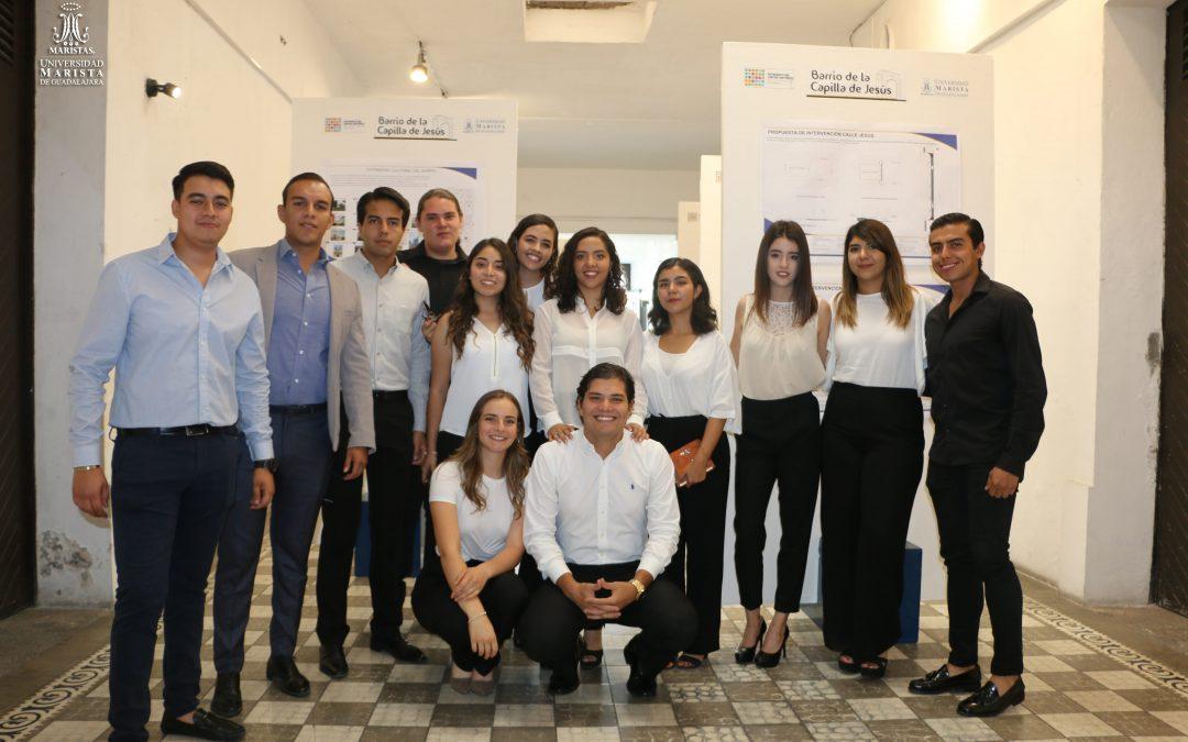 Alumnos de Arquitectura presentan exposición en el Patronato del Centro Histórico de Guadalajara.