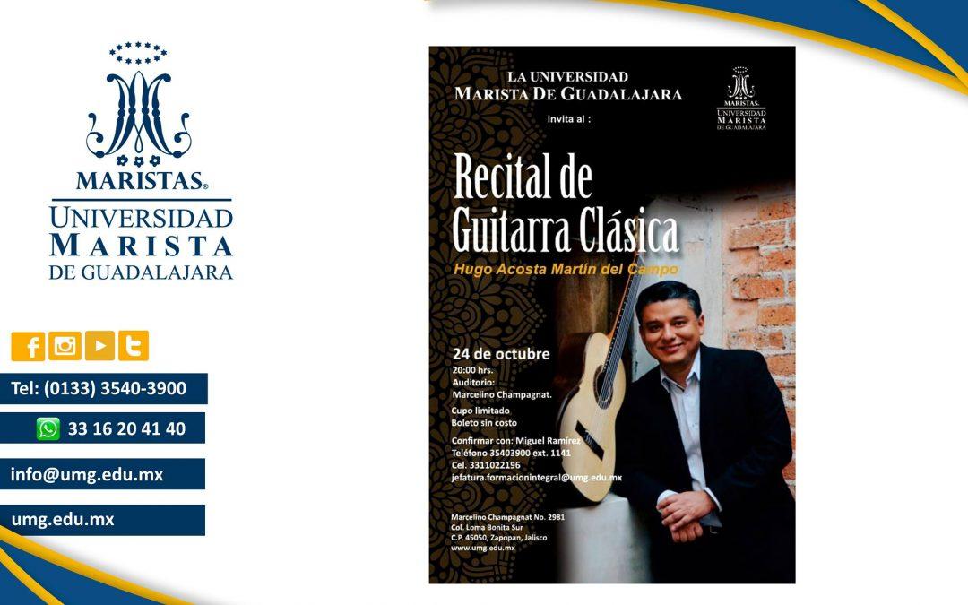Recital de Guitarra con el Maestro Hugo Acosta Martín del Campo