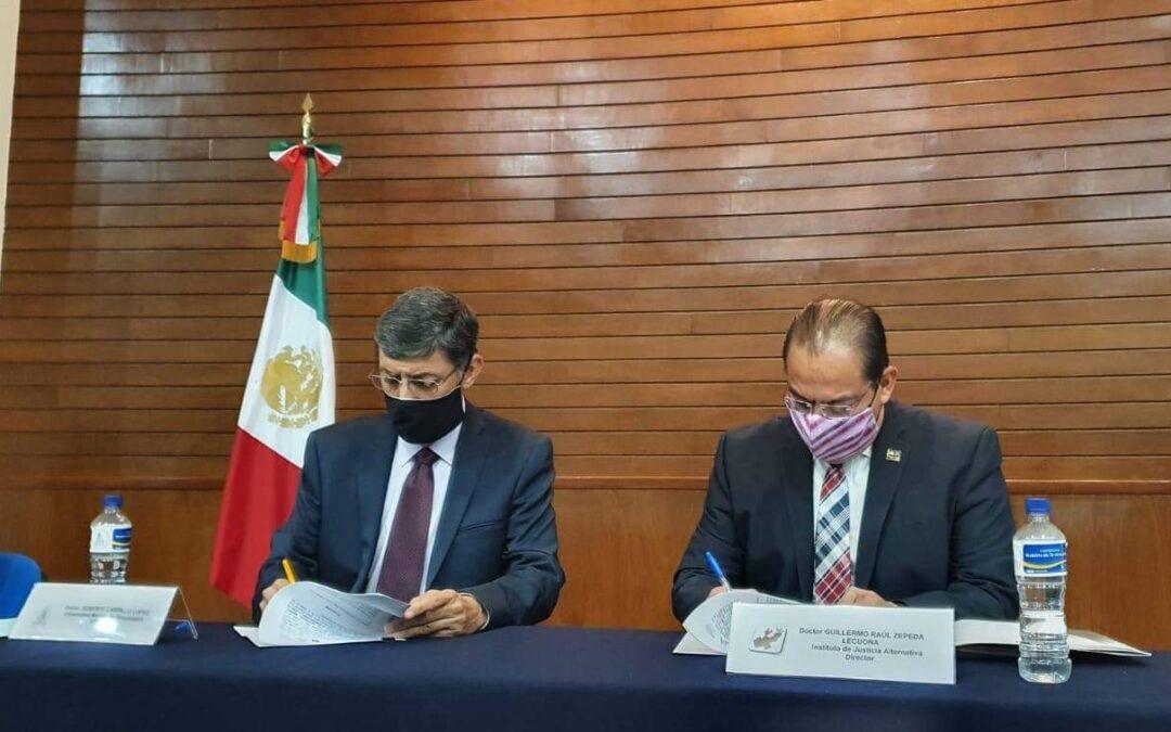 Firma de Convenio Interinstitucional, Universidad Marista de Guadalajara y el Instituto de Justicia Alternativa del Estado de Jalisco