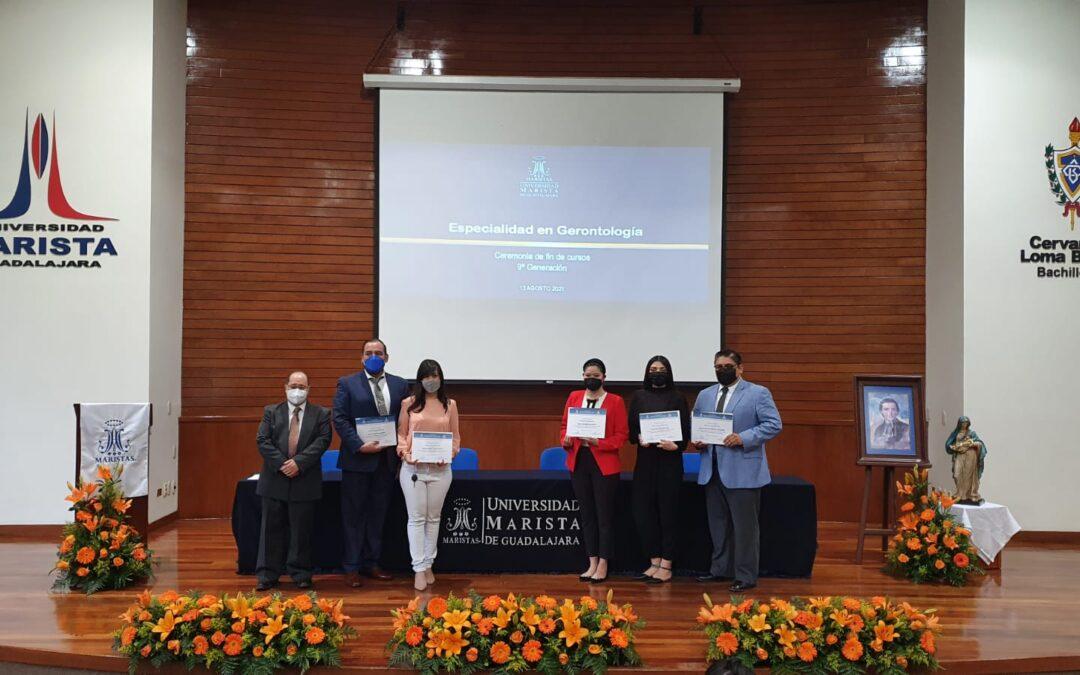 Ceremonia de fin de cursos de la Especialidad en Gerontología