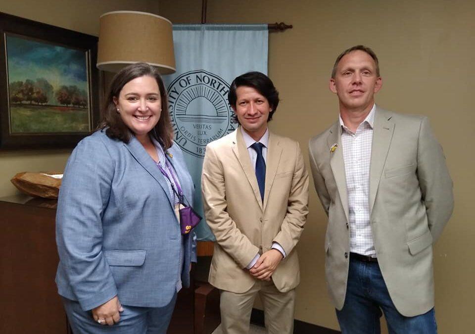 Universidad Marista de Guadalajara cierra primer año de cooperación con visita a University of North Alabama.