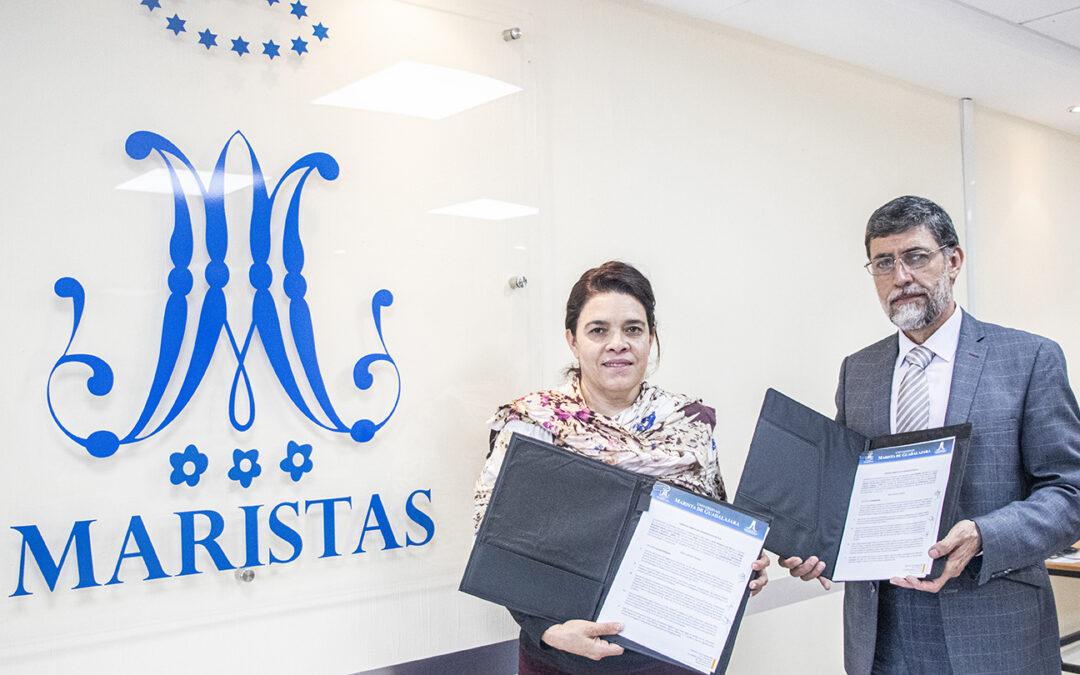 Universidad Marista y ALAEF Pro Educación firman convenio de colaboración.