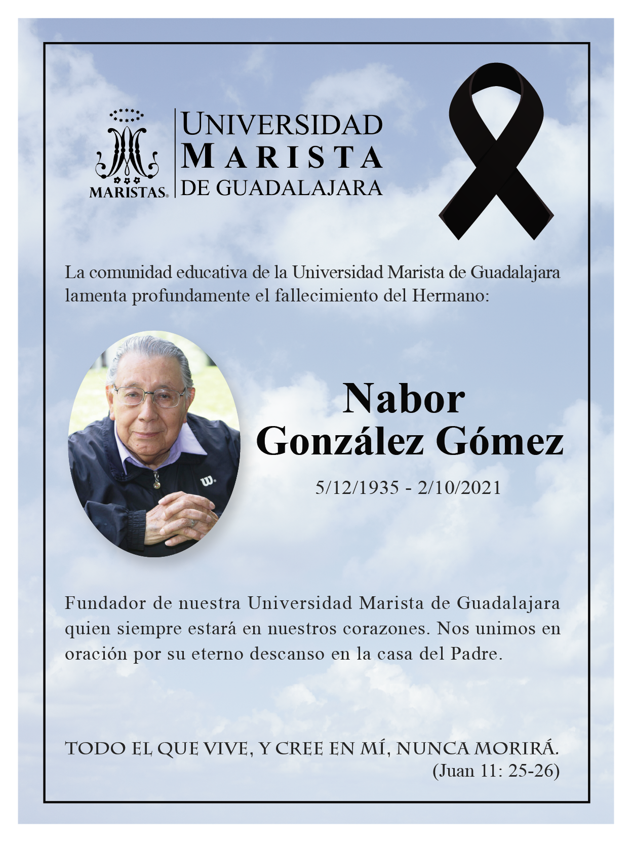Fallecimiento del H. Nabor González Gómez