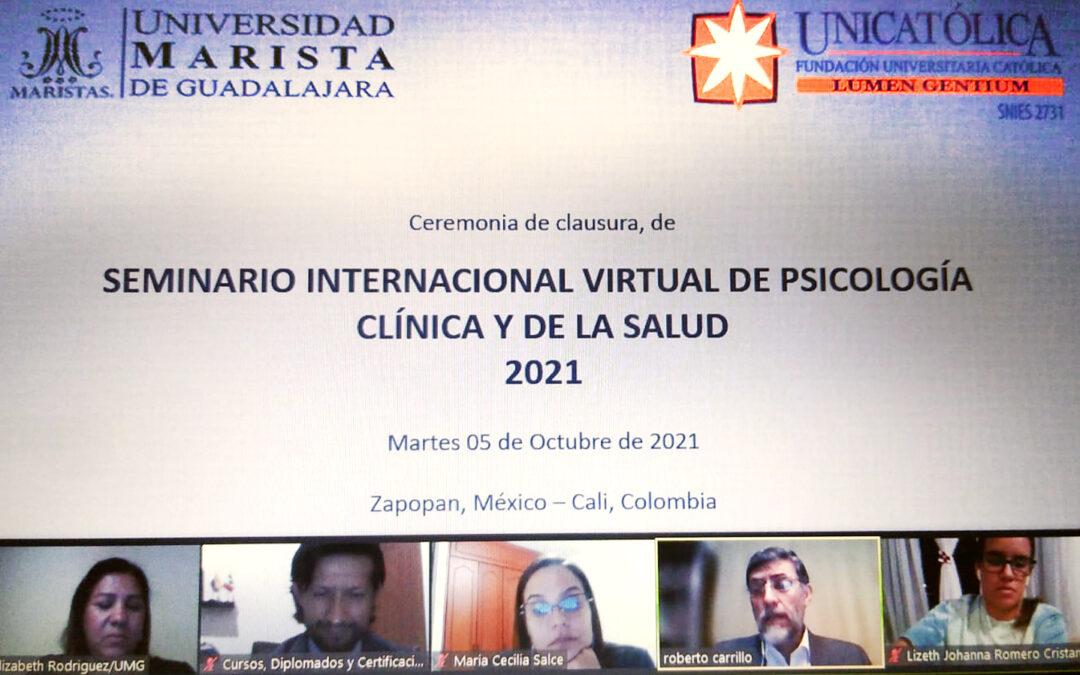 Dr. Roberto Carrillo López preside Clausura del Seminario Internacional Virtual en Psicología Clínica y de la Salud.